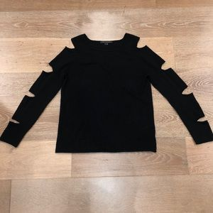 Skull cashmere sweater with cutouts